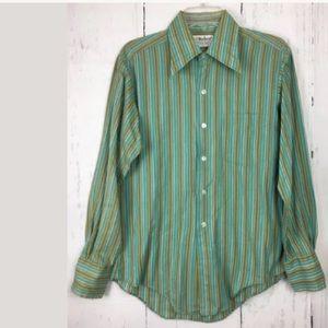 Vintage Marlboro shirt western stripe medium